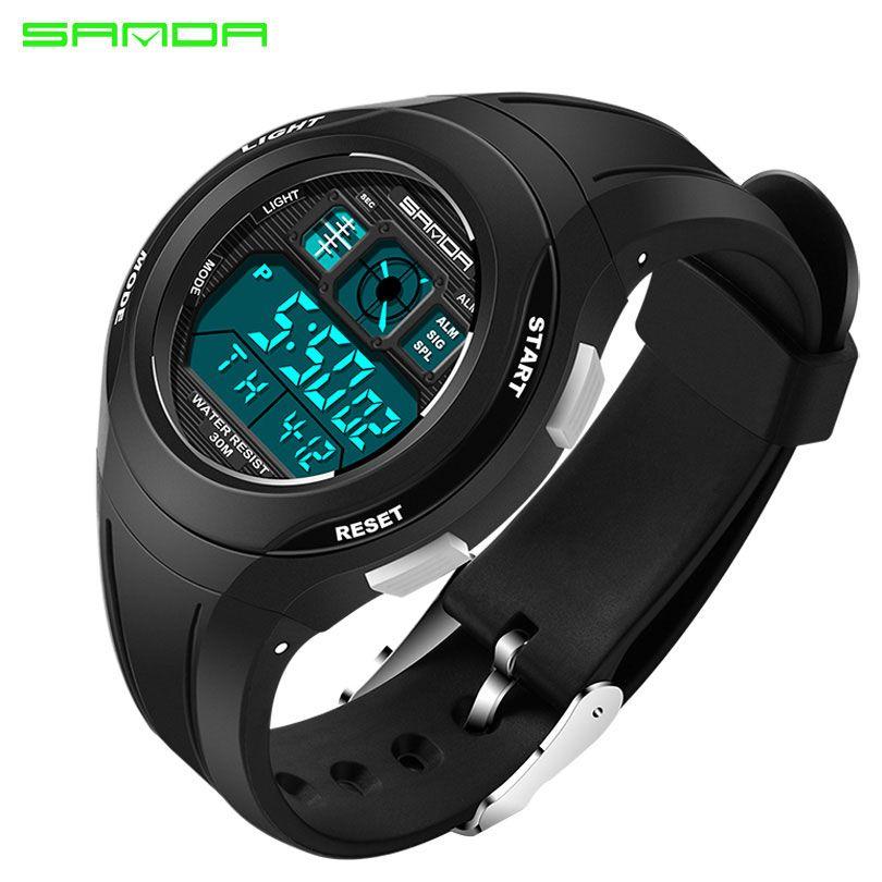 SANDA Top LED Digital Children Watch Kids Watches Girls Boys Clock Child Sport Wrist Watch Electronic for Girl Boy Surprise Gif