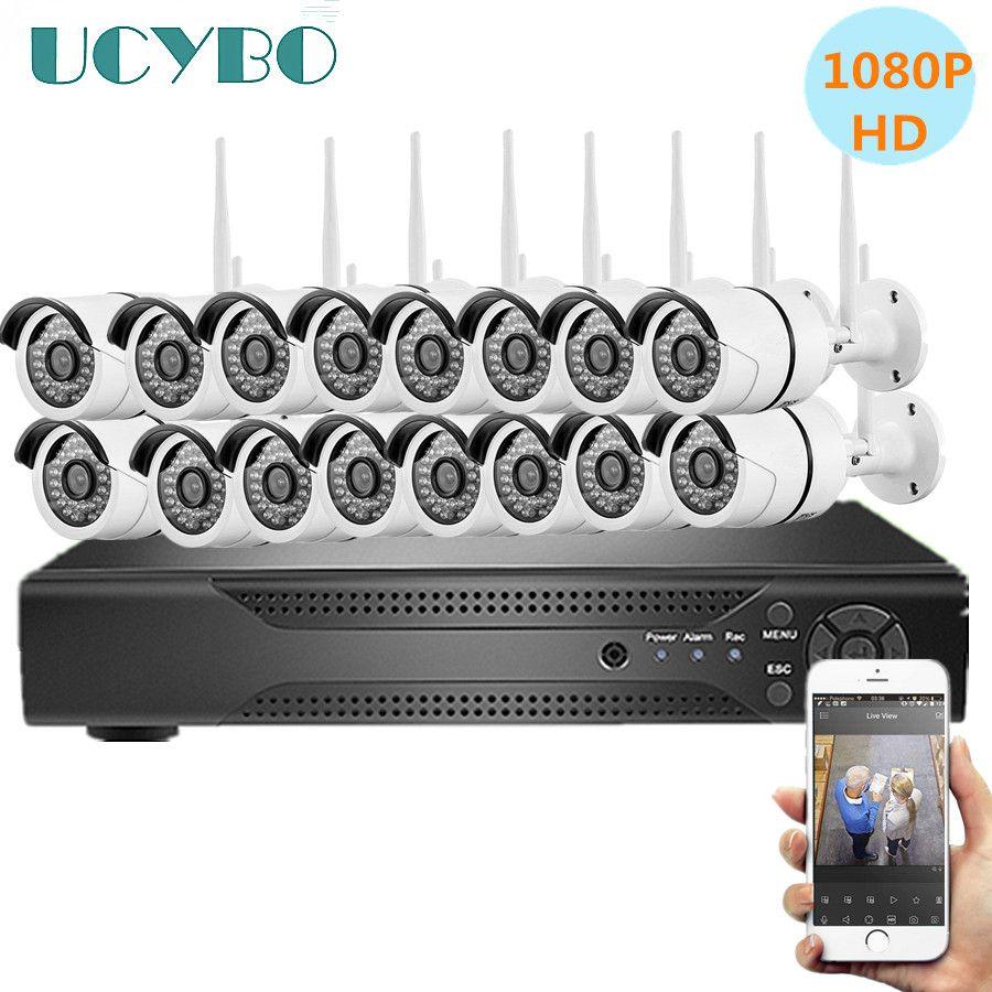 16ch drahtlose sicherheit IP kameras system 1080 P für home cctv video überwachung kit outdoor indoor 2.0MP wifi kamera nvr set