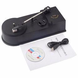Mini Phonograph Turntable Record Portable Mini Vinyl Turntable Audio Player Vinyl Turntable to MP3/WAV/CD Converte EC008