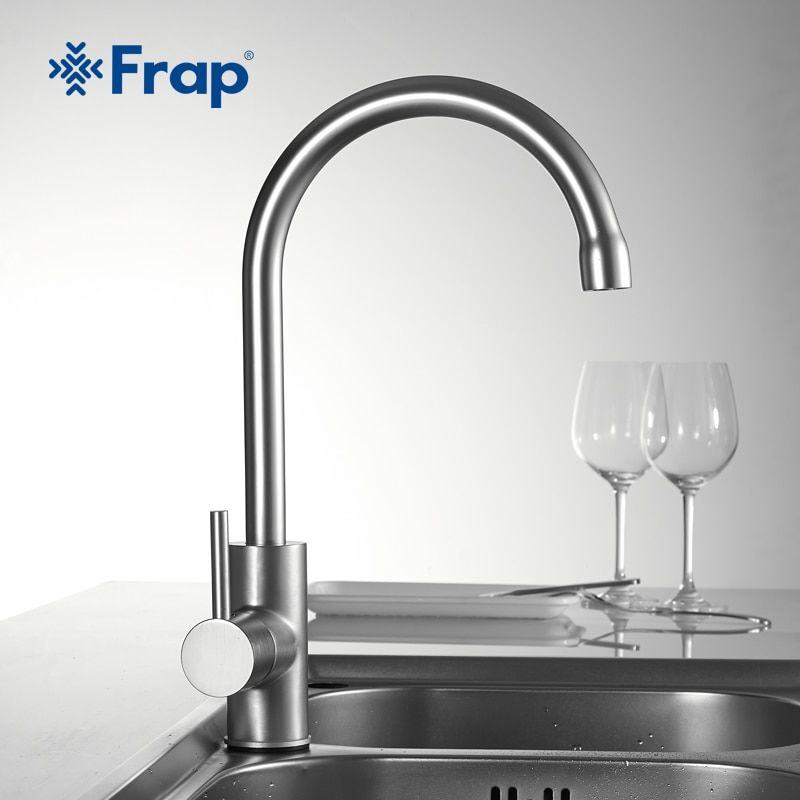 Frap Kitchen Faucet 360 Degree Rotation Curved Outlet Pipe Tap Basin Plumbing Hardware kitchen Sink Faucet water mixer faucets
