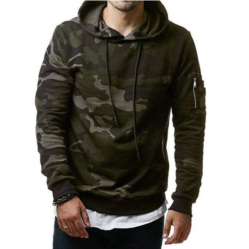Hoodies Men 2018 New Fashion Male Hoodies <font><b>Hombre</b></font> Hip Hop Casual Brand Hoodie Camouflage Sweatshirt Men Slim Fit Men Hoody M-3XL