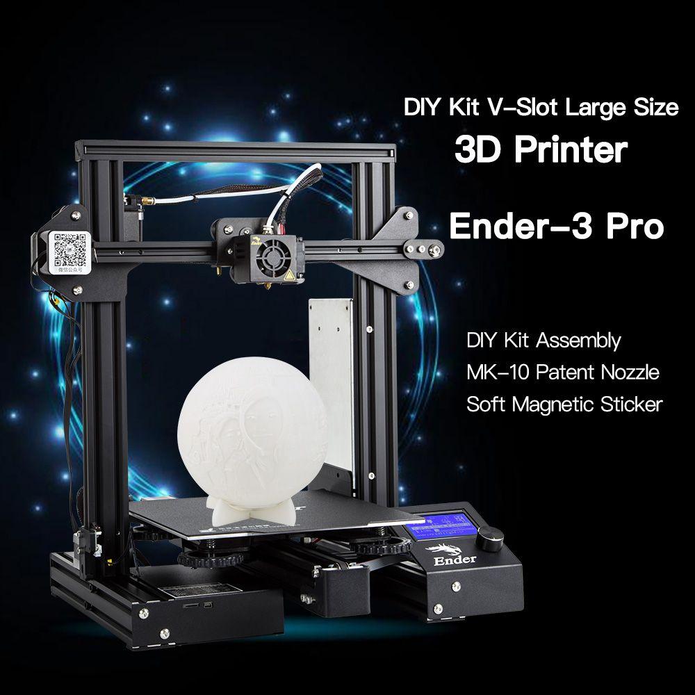 Ender-3 Pro/Ender-3X/Ender-3 3D Drucker DIY Kit V-slot prusa I3 Upgrade Lebenslauf Power Weg Große druck Größe 220*220*250mm