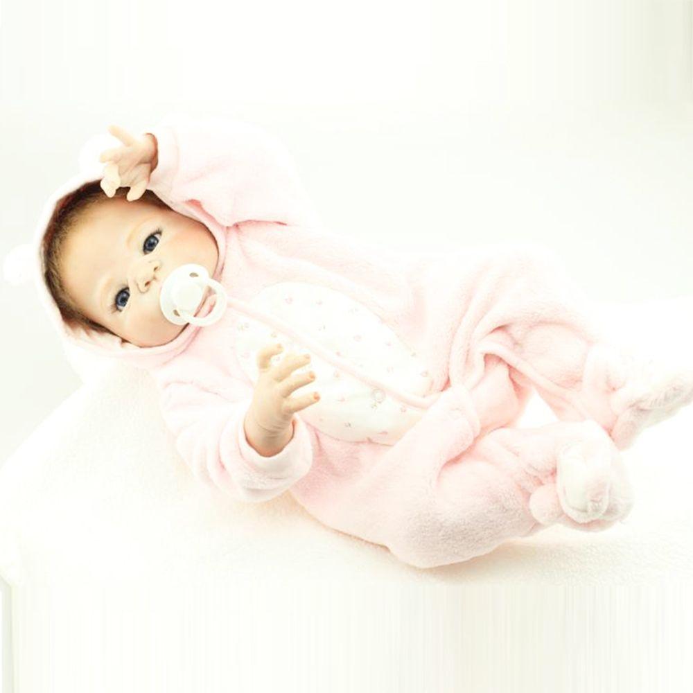55 cm completo Cuerpo silicona reborn bebé muñeca juguete niño recién nacido princesa bebés alive bebe baño juguete Niñas bonecas regalo de los cabritos