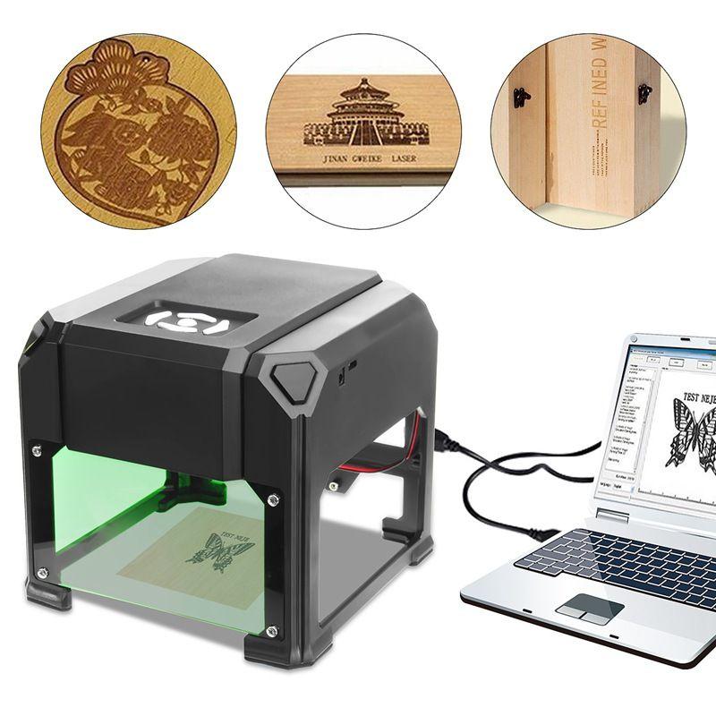2000 mW USB Desktop Laser Engraver Machine 80x80mm Engraving Range DIY Logo Mark Printer Cutter CNC Laser Carving Machine