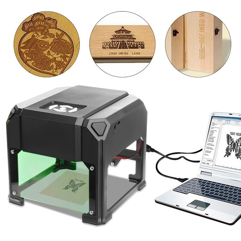 2000 mW USB Desktop Laser Engraver Machine 80x80mm Engraving Range DIY Logo Mark Printer Cutter CNC Laser Carving Machine