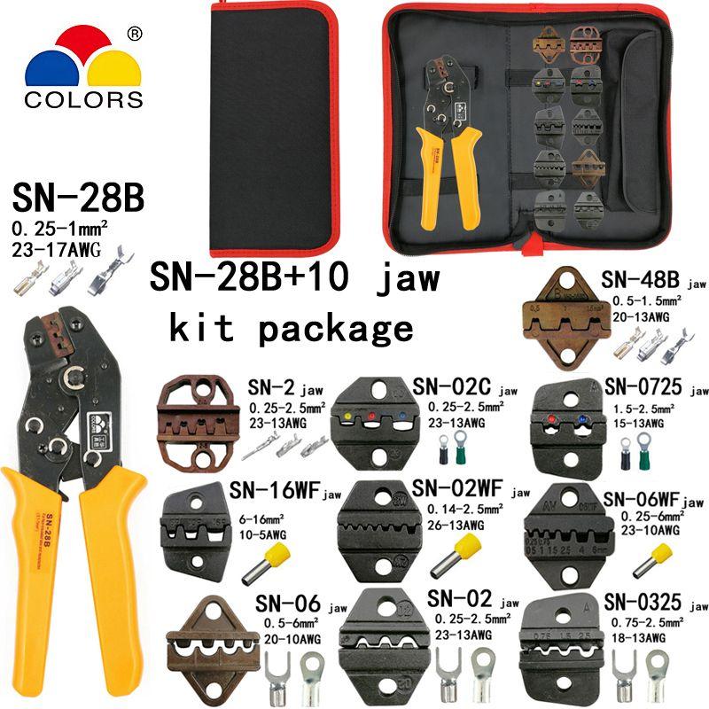 SN-28B pince à sertir 10 mâchoires pour TAB 2.8 4.8 6.3/C3 XH2.54 3.96 2510/tube/non insuated bornes électriques pince kit outils