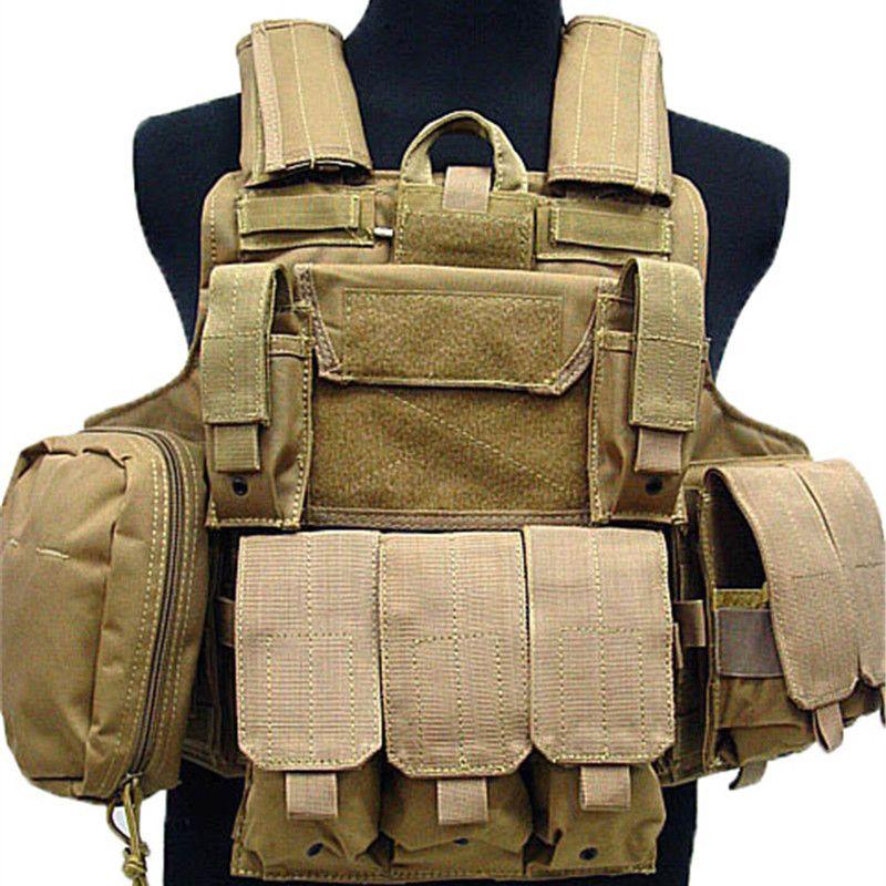 Multi Taschen Camouflage Molle Taktische Weste Airsoft Jagd-schießen Combat Gear Magazintasche Armor Plate Carrier Weste