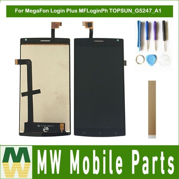 For MegaFon Login Plus MFLoginPh TOPSUN G5247 A1 LCD Display+Touch Screen Digitizer Assembly Black with Tools&Tape