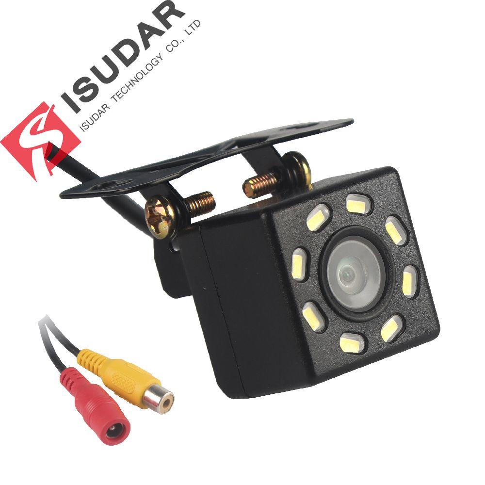 Caméra de recul de voiture Isudar caméra de recul universelle 8 LED Vision nocturne étanche 170 grand Angle HD Image couleur