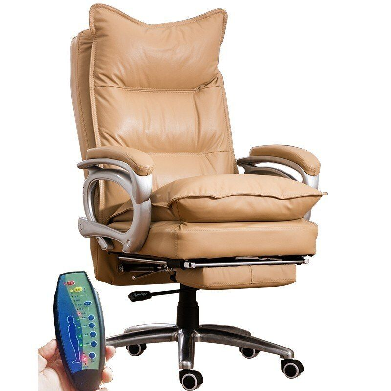 Rindsleder 515 Büro Poltrona Esports Stuhl Chef Stuhl Mit Rad Echtem Leder Können Liegen Ergonomie Mit Fußstütze Massage