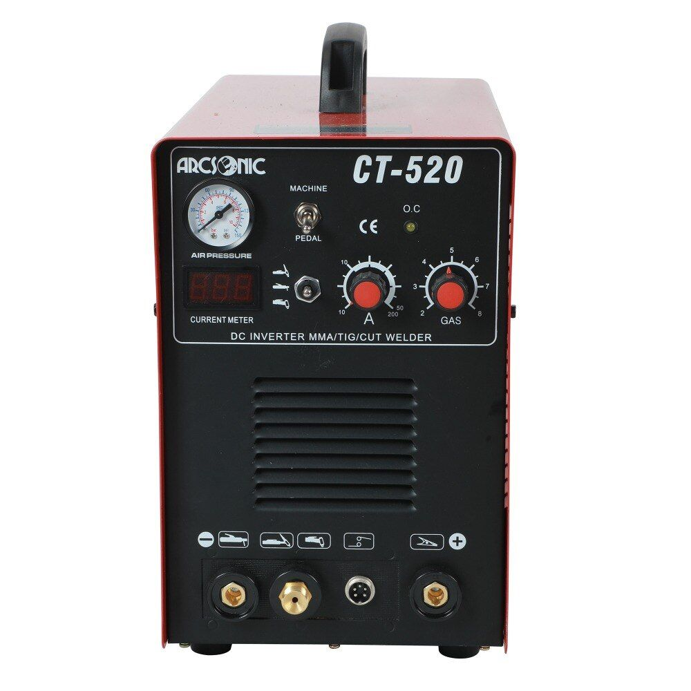 IGBT 3 in 1 CT520D schweißen maschine CUT 50 Amps TIG 200 Amps MMA 200 Amps schweißen schneiden 190 v -250 v sauber schneiden dicke 12mm