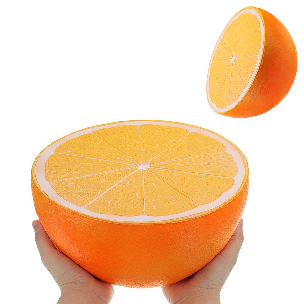 Large Orange Watermelon jumbo squishy Slow Rising toy 25CM big size Cartoon squeeze toys Kids fun Soft Toy anti stress Gift