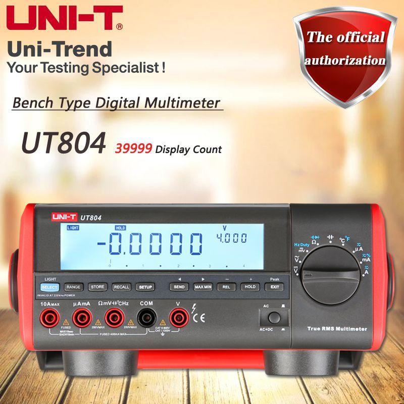 UNI-T UT804 Desktop Digital Multimeter High Precision True RMS Multimeter Resistance/Capacitance/Frequency/Temperature Tes