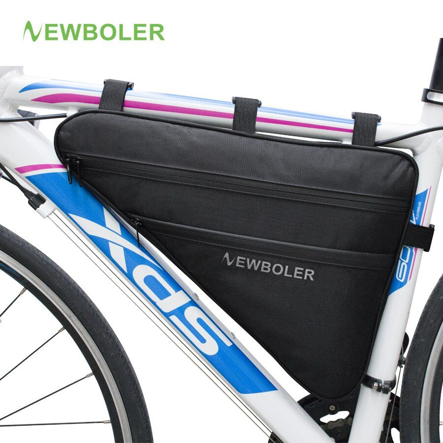 2018 NEWBOLER Large Bicycle <font><b>Triangle</b></font> Bag Bike Frame Front Tube Bag Waterproof Cycling Bag Pannier Ebike Tool Bag Accessories XL