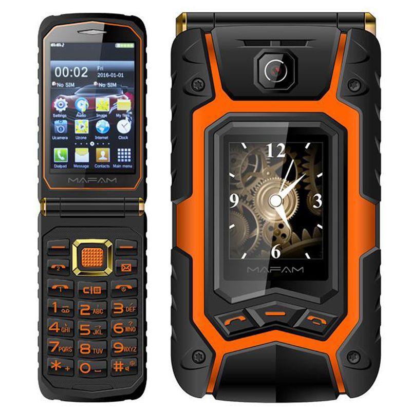 Mampa téléphone Mobile Senior double écran X9 cadran rapide longue veille clé russe écran tactile à clapet
