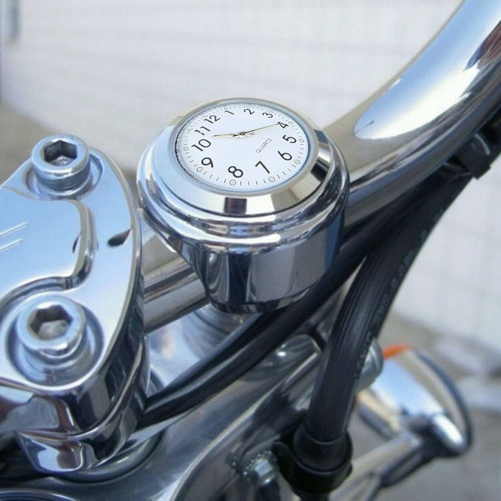 Universal Waterproof 7/8 Motorcycle Bike Handlebar Mount Clock Durable Aluminum Alloy Moto Watch Accessories Locked to Handlebar
