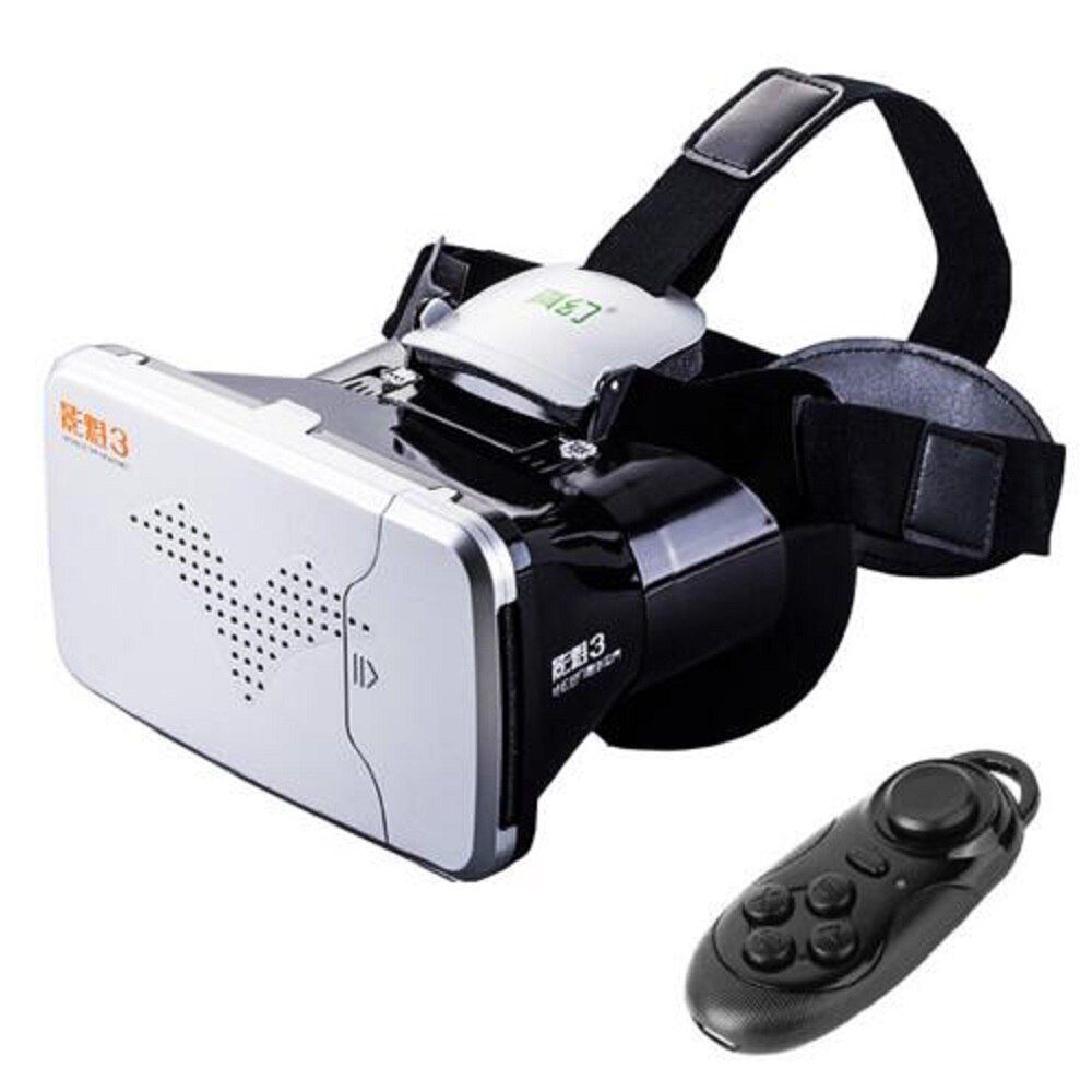 RITECH III VR Virtual Reality 3D Glasses Headset RITECH III Rift Head Mount Cardboard for 3.5-6 Phone+Bluetooth Remote Control