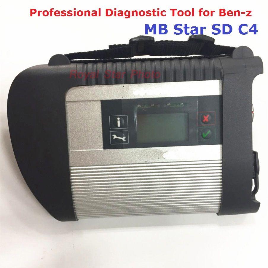 Hohe Qualität Volle Chip MB-STERN C4 V12.2017 SD Schließen Diagnosewerkzeug mit WiFi SD C4 Haupteinheit Mit Kabel Xentry Stern C4 DHL
