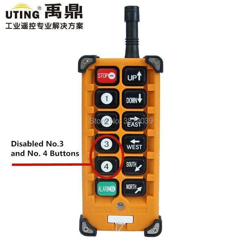 Nizza UTING CE FCC Industrial Wireless Radio Single Speed F23-A + + Sender von Fernbedienung
