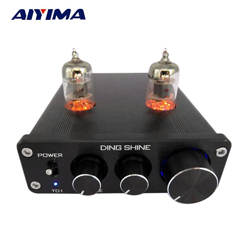 Aiyima Tube Amplifier Preamp HiFi 6J1 Tube Preamplifier Board With NE5532 Tone 12V Power Supply