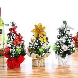 Selamat Pohon Natal Tahun Baru 2018 Kamar Tidur Dekorasi Meja Loffice Home Anak Hadiah 3 Warna Kecil Pohon Pinus Dekorasi Rumah 3 $