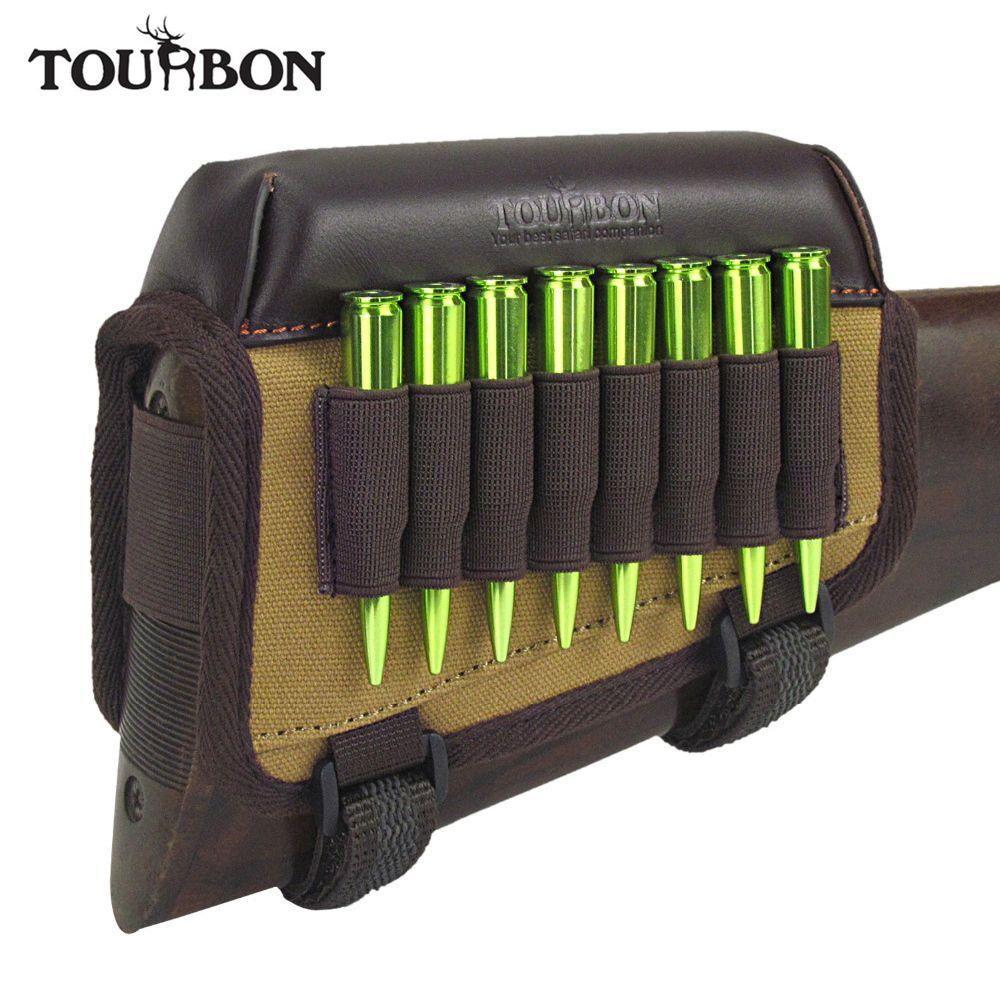 Tourbon chasse tactique fusil repose-joue Riser Pad avec cartouches de munitions porte-balle support toile et accessoires de pistolet en cuir