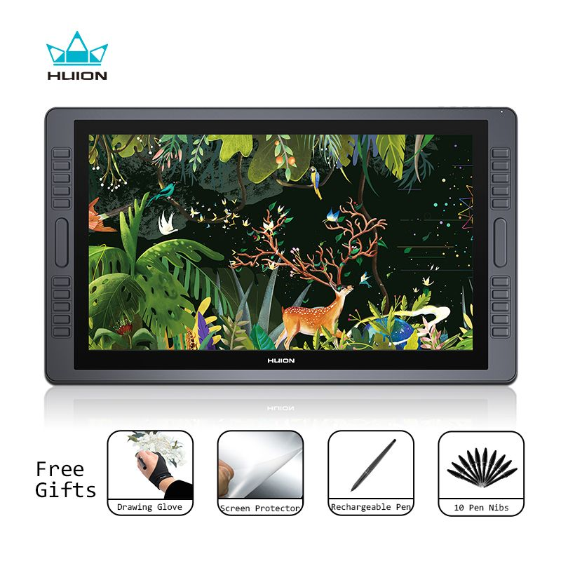 Huion KAMVAS GT-221 Pro Pen Display Tablet Monitor Graphics Drawing Monitor 21.5 inch HD with 8192 Levels and Free Gift