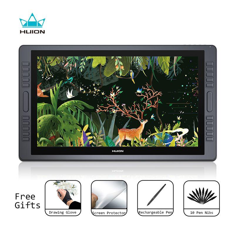 Huion KAMVAS GT-221 Pro Pen Display Tablet Monitor Grafiken Zeichnung Monitor 21,5 zoll 8192 Ebenen mit Freies Geschenke