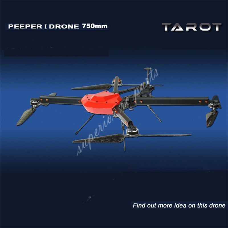 Tarot Peeper I Drone 750mm FPV Quadcopter Frame 4 Axis UAV Phantom UFO with Propeller Motor ESC Power Distributor TL750S1