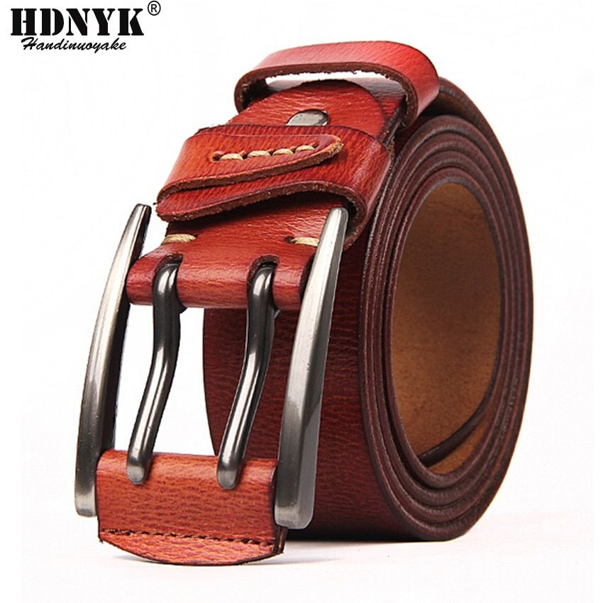 100% cuir de vachette véritable ceintures en cuir pour hommes marque sangle mâle boucle ardillon fantaisie Vintage Jeans Cowboy Cintos livraison gratuite