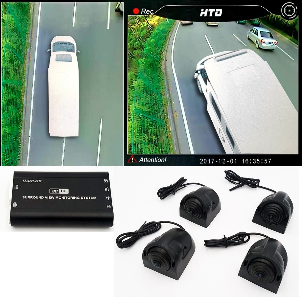 Vogel Ansicht kamera System für RV/wohnmobil/Camper HD 3D 360 Surround View System 1080 P DVR G -Sensor
