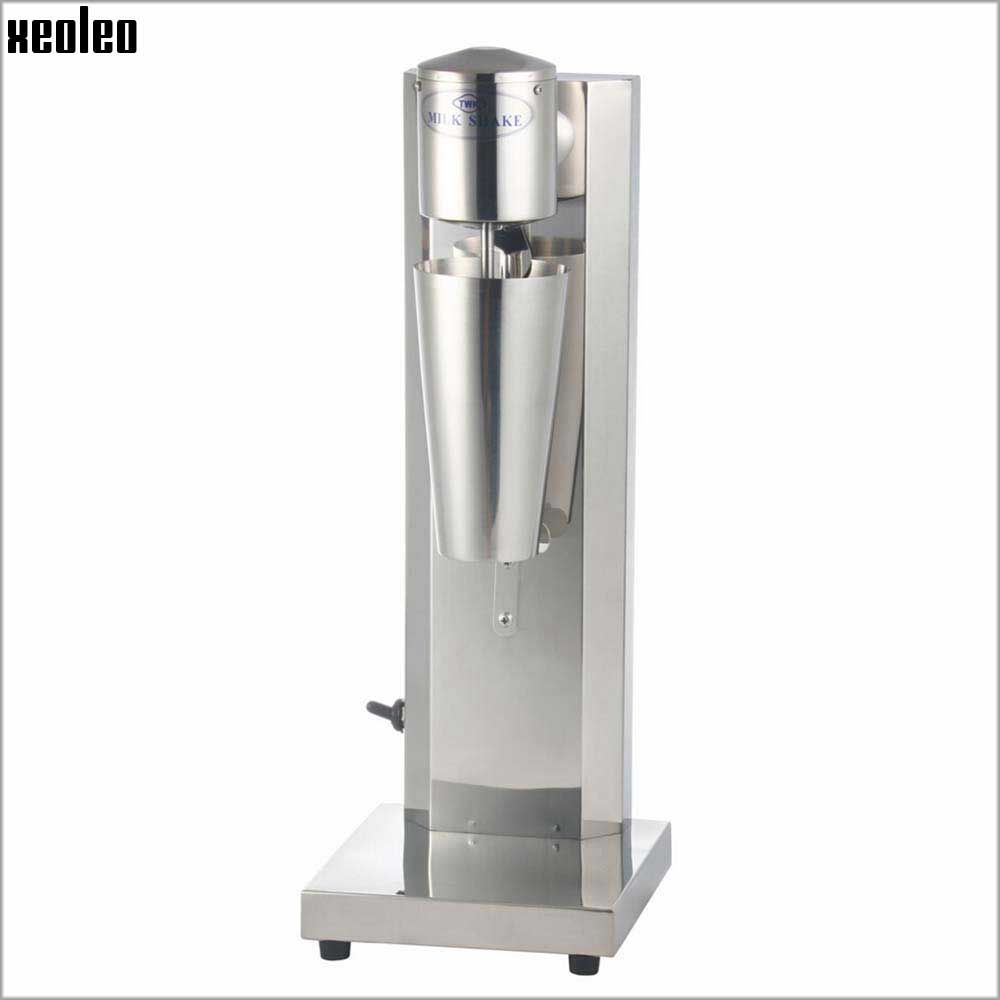 Xeoleo Commercial Milk shake machine Stainless Steel Milkshaker Bubble Tea stirring machine 30cup/hr Milk bubble Mixer