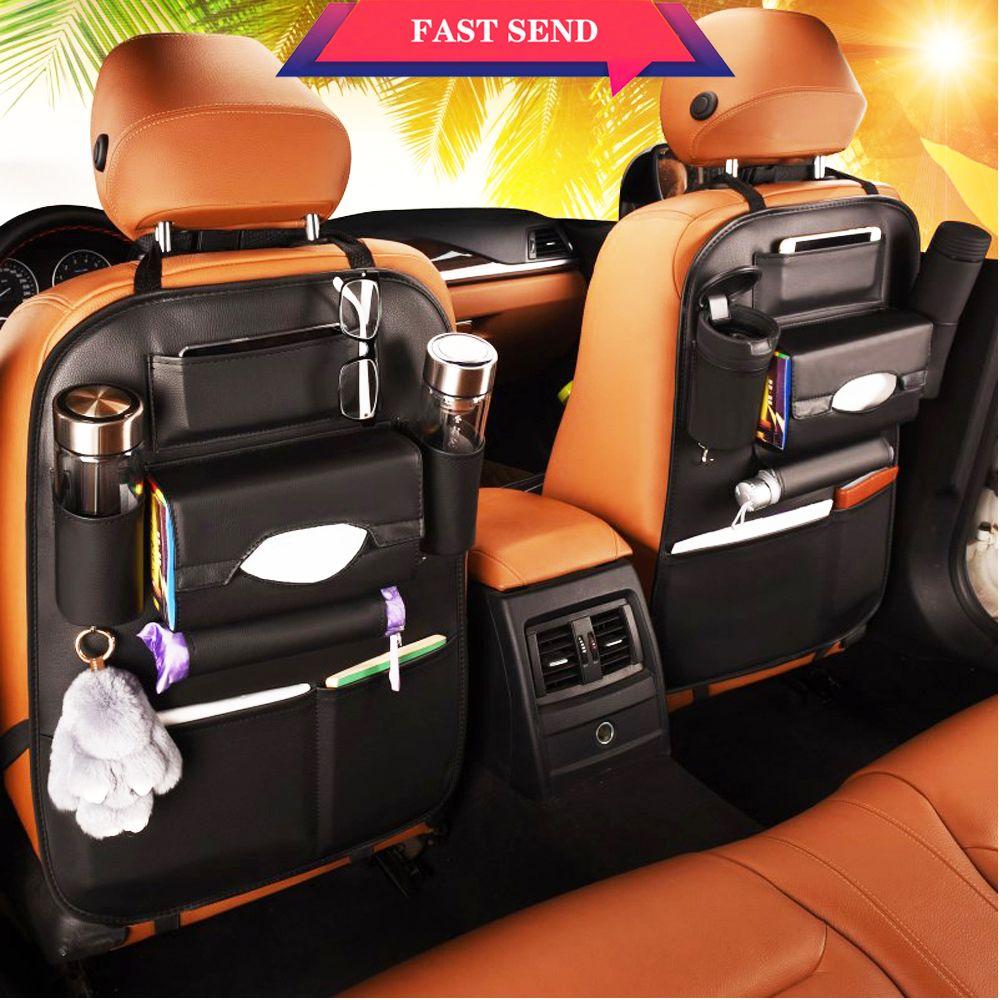 Classe A sac de rangement de voiture créatif organisateur de voiture sac de siège arrière de voiture housse de siège multifonctionnel housse de siège résistant à la saleté
