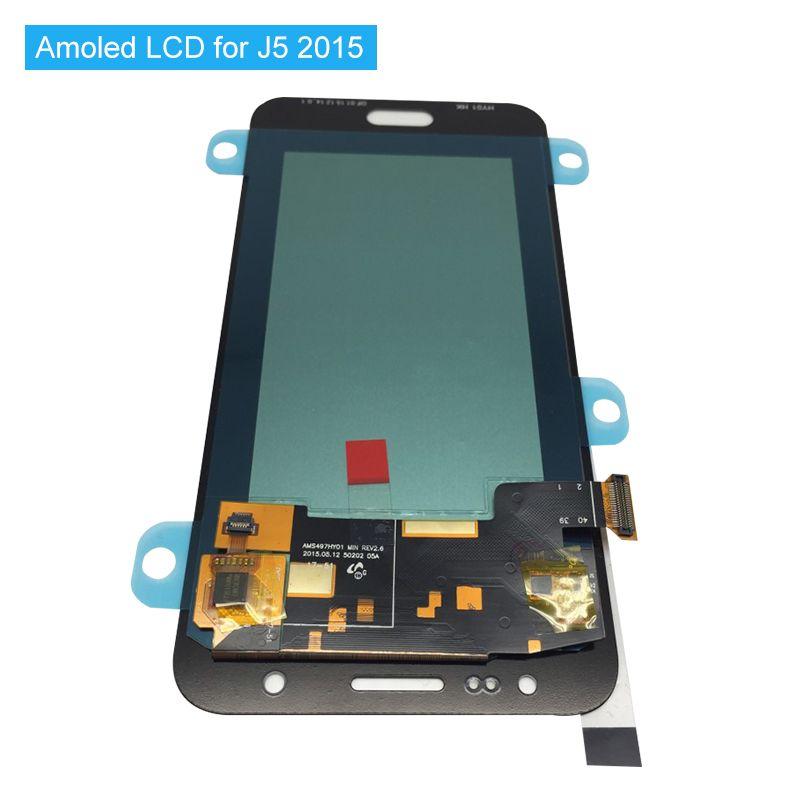 Super AMOLED Ersatz LCDs Für Samsung Galaxy J5 2015 J500 J500F J500FN J500H J500M Komplett Neue Lcd-bildschirm + Werkzeuge