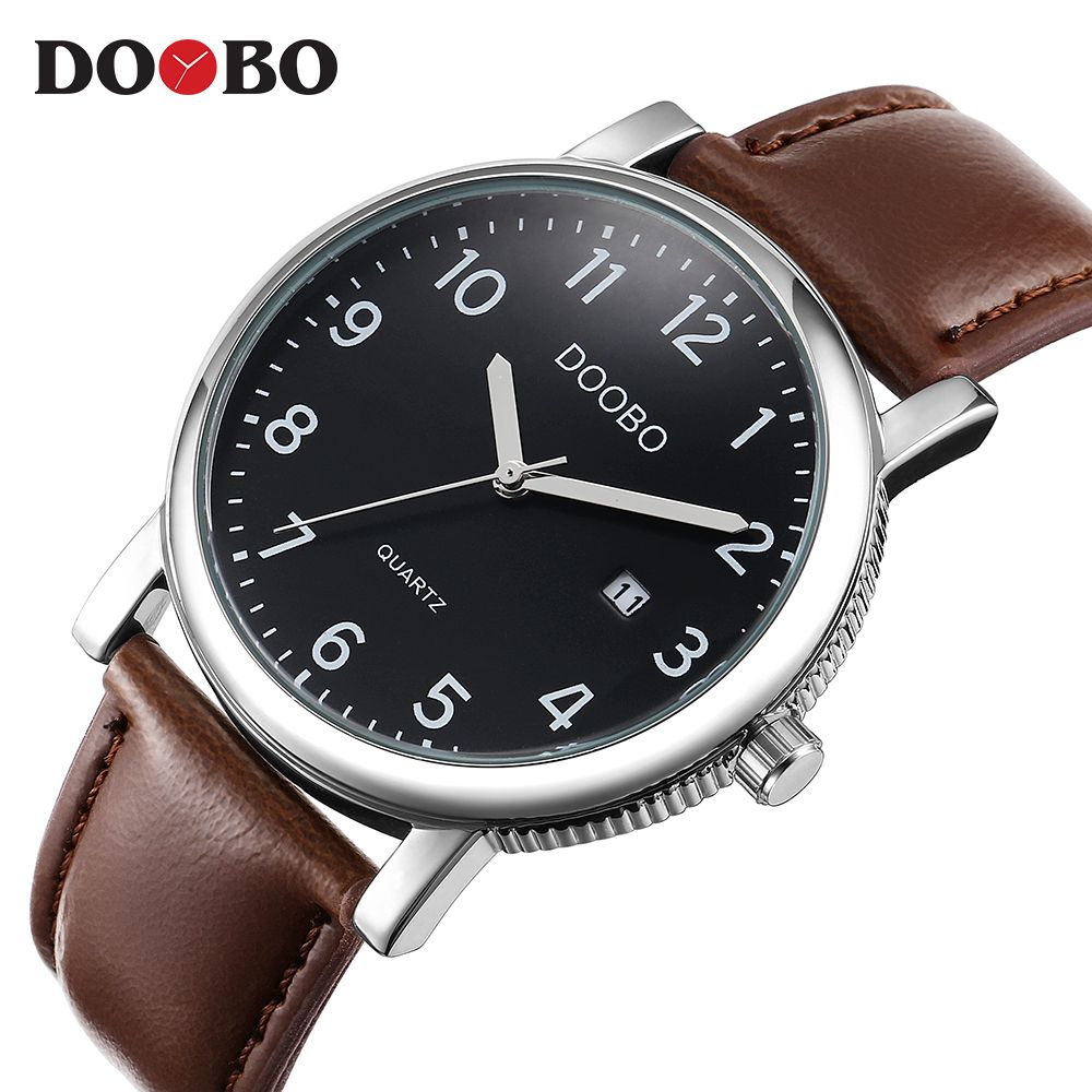 DOOBO Original Men Quartz Watch Reloj Hombre Leather Business Watches Men Clock Chronograph Army Military Watch Sport for Male