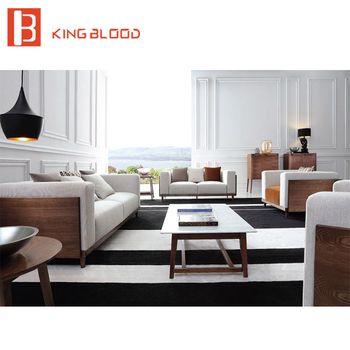 Élégant européenne élégant moderne coupe canapé salon canapé ensemble de meubles