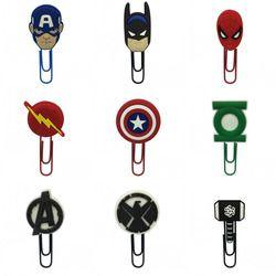 18 Pcs/Set Avengers Spider Man Klip Kertas Perlengkapan Kantor Guru Bookmark untuk Buku Hadiah Buku Penanda Dekorasi Untuk Hadiah Anak-anak