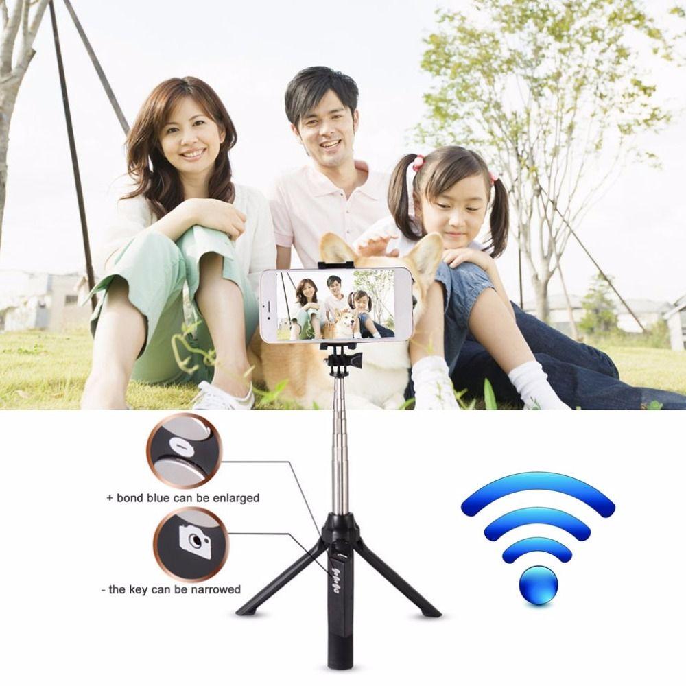 Handheld Mini Stativ 3 in 1 Selbstporträt Einbeinstativ Telefon Selfie Stick Mit Bluetooth-fernauslöser Für Smartphones Kameras