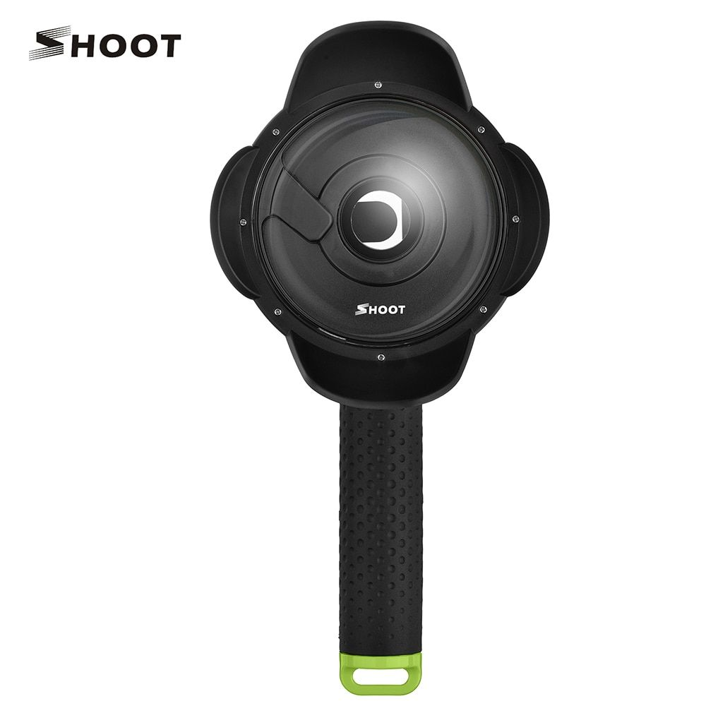 SHOOT 4 inch Diving Dome Port for Xiaomi Yi 1st 2k Edition with Waterproof Case <font><b>Underwater</b></font> Dome For Yi Xiaomi Yi Cam Accessory