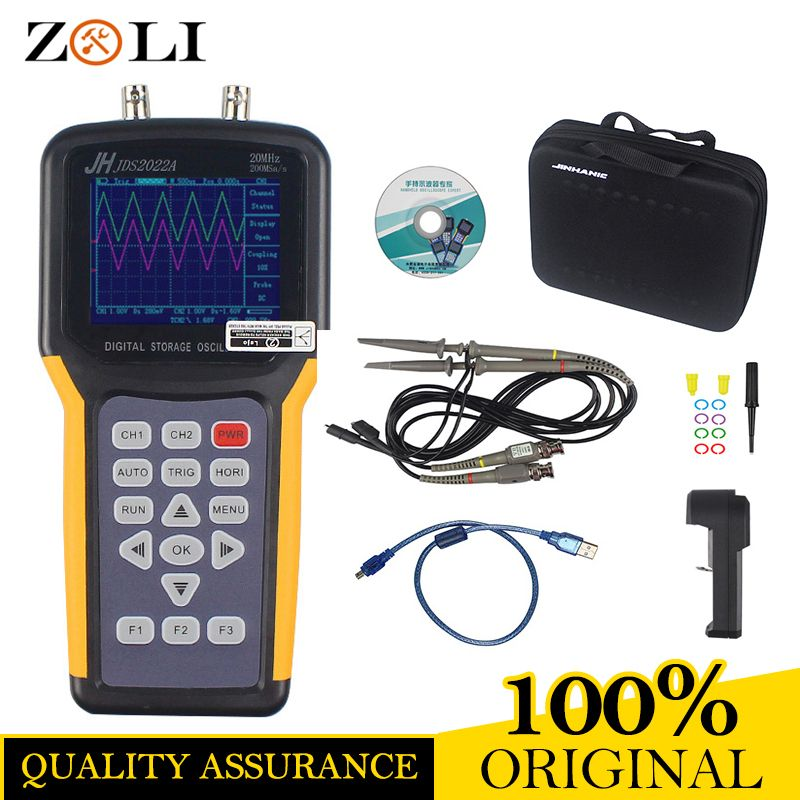Jinhan JDS2022A Handheld Oscilloscope 2 Channels 20MHz oscilloscope JDS2022A 20MHz Bandwidth super function in stock JDS2012A