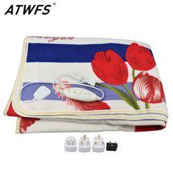 ATWFS электрическое плюшевое одеяло с двойным подогревом одеяло защитное покрывало толще один электрический коврик подогреватель тела для з...