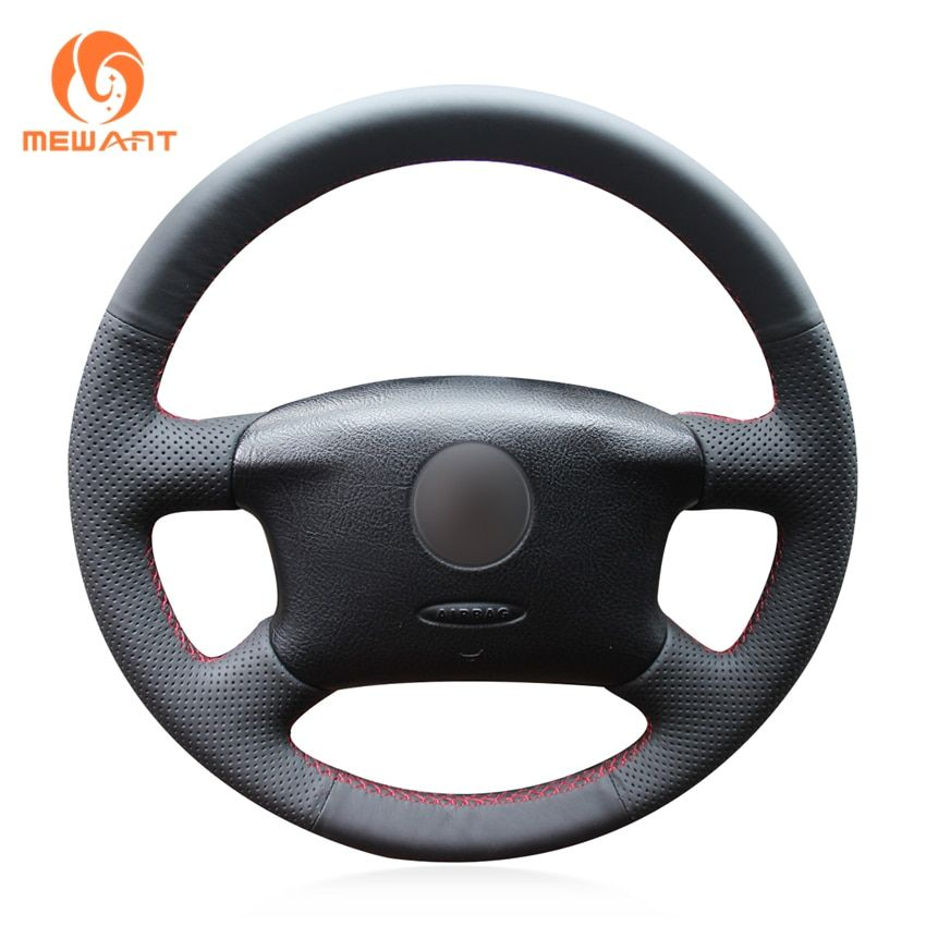 MEWANT Black Artificial Leather Car Steering Wheel Cover for Volkswagen Passat B5 VW Passat B5 VW Golf 4 Skoda Octavia 1999-2005