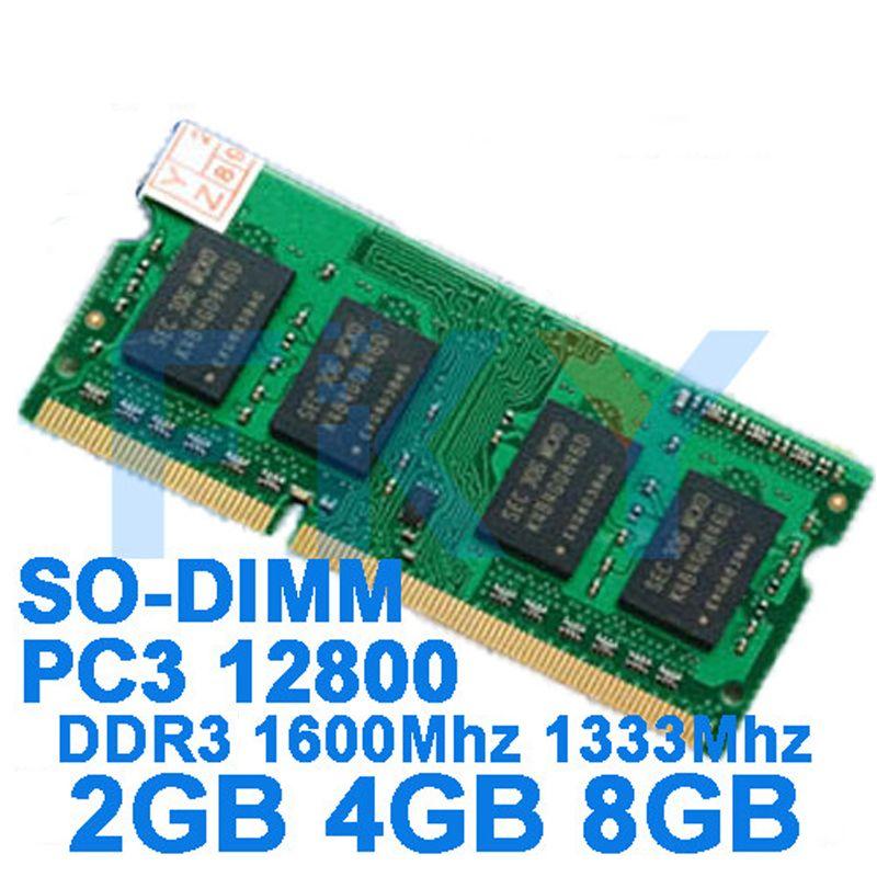 Mémoire de marque DDR3 Ram 1600 Mhz 2 GB 4 GB 8 GB pour ordinateur portable Sodimm Memoria Compatible avec DDR 3 1600 1333 Mhz 1066 Mhz