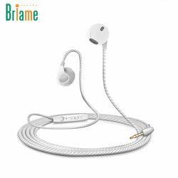 Briame Courir Écouteur Stéréo Musique Casque 3.5mm Jack Basse Sport casque Avec Microphone Pour iPhone 6 6 S 5 5S Samsung Xiaomi