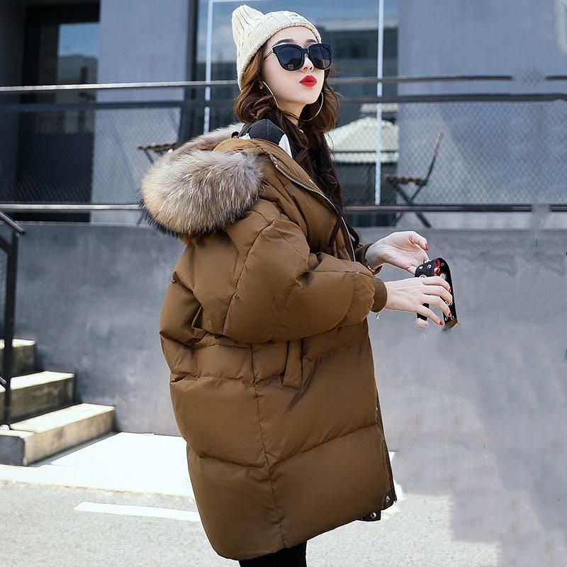 2017 Winter Women Hooded Coat Fur Collar Thicken Warm Long Jacket Female Plus Size Outerwear Parka Ladies Chaqueta Feminino