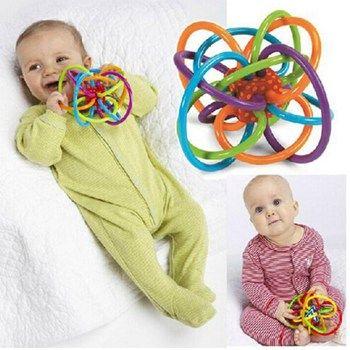 Bébé jouets fun peu bruyant cloche balle bébé balle jouet hochets bébé développer l'intelligence bébé saisissant jouets en plastique hochet clochette