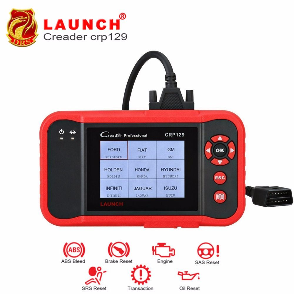 Launch Professional Crp129 CRP 129 Creader Auto Code Reader Update Online 4 Systems EPB SAS Oil Light resets Car Diagnostic Tool