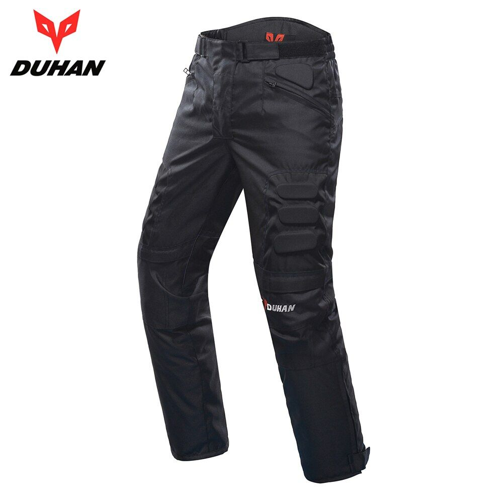 DUHAN Motorcycle Pants Men Windproof Motorcycle Enduro Motocross Pants Riding Trousers Moto Pants With Knee Protective Gear