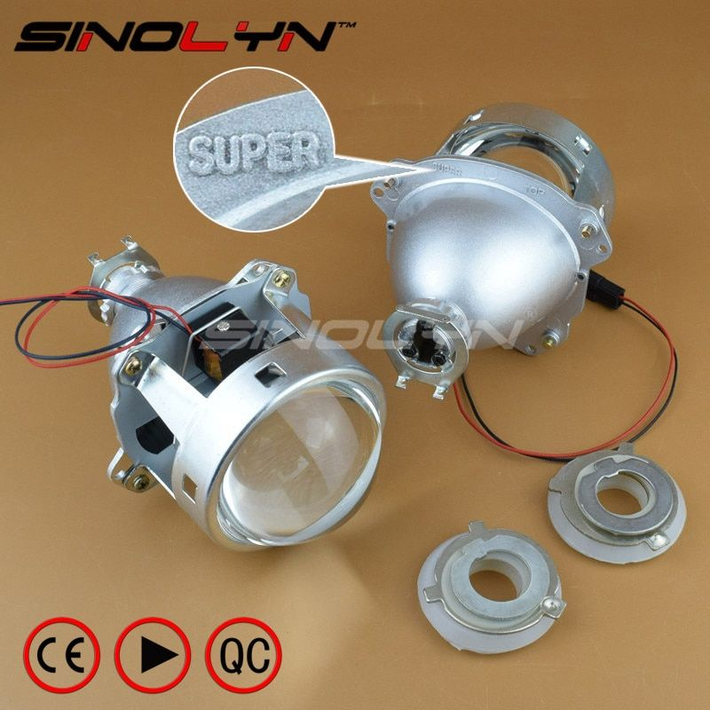 SINOLYN Super 3.0'' H1 HID Bi xenon Lenses Projector Headlight H1 H4 H7 Headlamps Lens Full Metal Car Styling Automobiles Part
