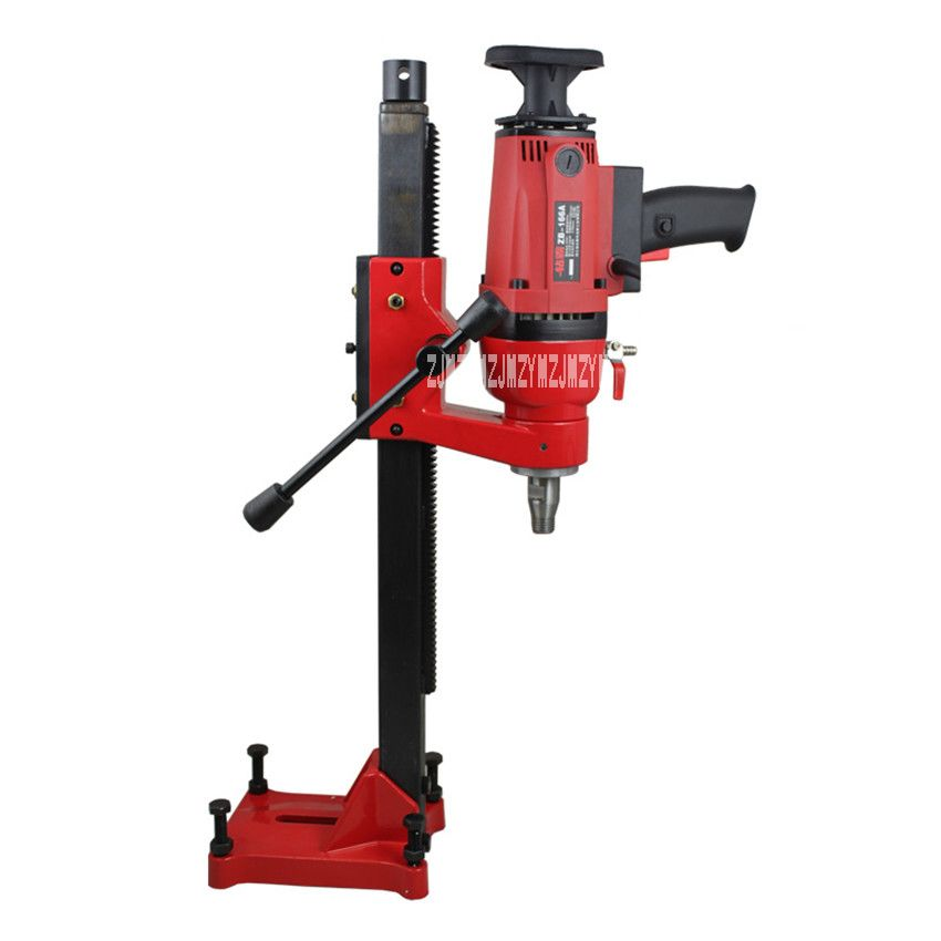ZB-166A Dual-purpose Core Drill Machine for Wet Drilling Concrete Complex of HandHeld And Desktop Machine 220v 50HZ 1900W 166MM